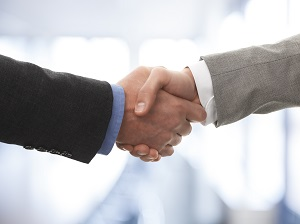 business owners shaking hands